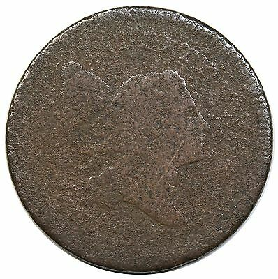 1795 Liberty Cap Half Cent, C-6a, No Pole, G+ detail
