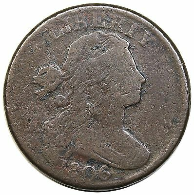 1806 Draped Bust Large Cent, S-270, F detail