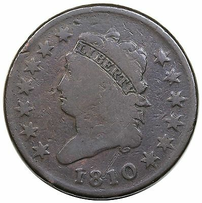 1810 Classic Head Large Cent, S-282, VG