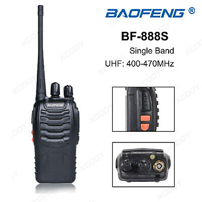 BaoFeng BF-888S UHF 400-470MHz Walkie Talkie Amateur Two Way Radio 16 Channels