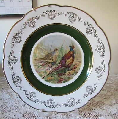 Vintage English Wood & Sons Ironstone Pheasants Collectable Plate