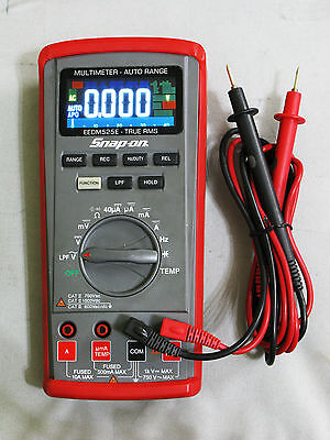 Snap-On EEDM525e True RMS Multimeter with Color Backlit Display