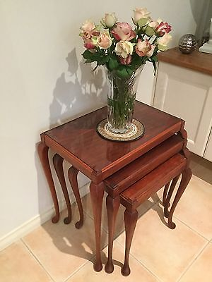 ANTIQUE NEST OF TABLES fully restored