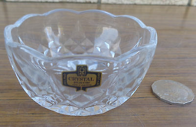 Vintage Crystal Cut Glass, Sugar Bowl, Made In Yuguslavia, Collectible