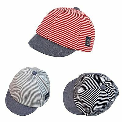 Newborn Baby Summer Hat Boys Girls Star Striped Hip Hop Baseball Cap Snapback AU