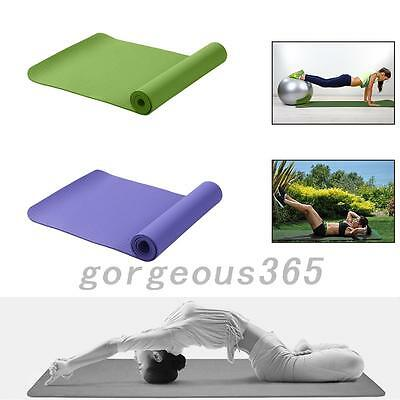 Portable Non-slip Yoga Mat Fitness Pad 6MM Thick Gym Pilates Supplies