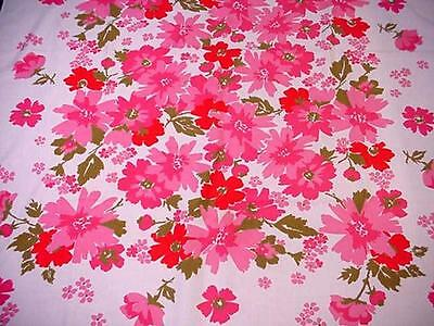 Vintage Large 60's FLORAL Tablecloth Bold SUMMER FLOWERS Colorful & Groovy