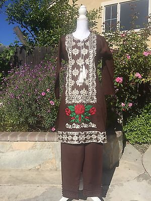 Pakistani/indian Salwar Kameez Lawn Cotton Suit 2pc Party Wear