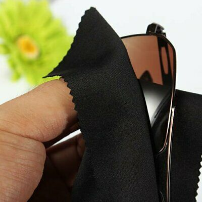 5/10/20pcs Black Microfiber Cleaner Cleaning Cloth For Screen Camera Lens Eye