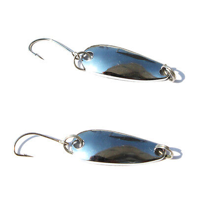 2.5g 5pcs Metal Fishing Lures Single Hook Fresh Water Spoon-type Baits Silver