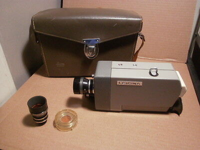 Leitz Leica Leicina 1960s Vintage 8MM Movie Camera with Case