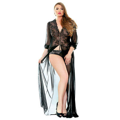 New Premiere Lana Lace Dressing Gown - 1XL