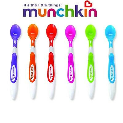 (1 - 10 )Munchkin SOFT TIP INFANT SPOONS KIDS TODDLERS EASY GRIP SPOONS