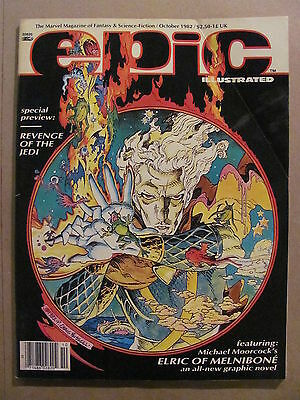 Epic Illustrated #14 Marvel Comics 1982 Rare Preview of Revenge of the Jedi
