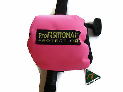 NEW Pink Overhead Reel Cover Medium Size - padded - Made in Australia