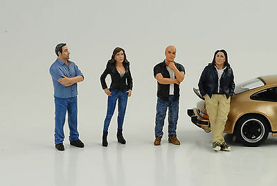 Figurine Figure Street Racing Crew Racer Set 4 pcs 1:24 AMERICAN DIORAMA / No