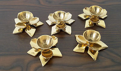 Brass Candlestick Candle Stick Holders Pair Antique Vintage Lot of 5 pcs