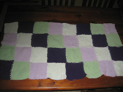 Baby Blanket/Pram Cover/Throw/Hand knitted 65cmX130cm BABY CHENILLE *LAST ONE*