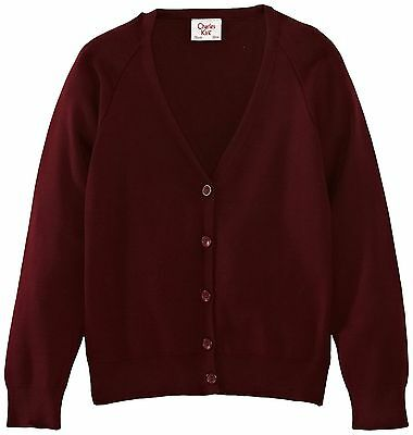 (TG. C40 IN- UK) Charles Kirk Coolflow - Cardigan, unisex, Rosso (h8a)