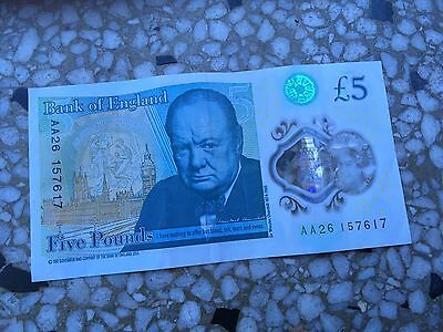 Bank Of England Five 5 Pound Note AA 26