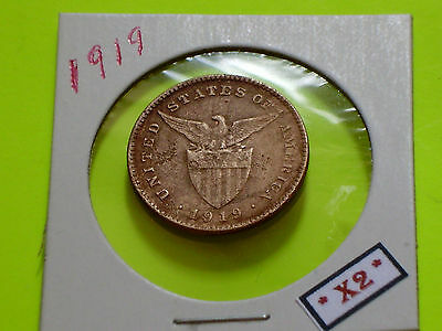 PHILIPPINES COIN 1919 One 1 Centavo US ADMINISTRATION