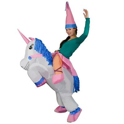Inflatable Unicorn Adult Fancy Dress Hen Stag Blow Up Costume