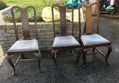 3 Queen Anne Style Chairs