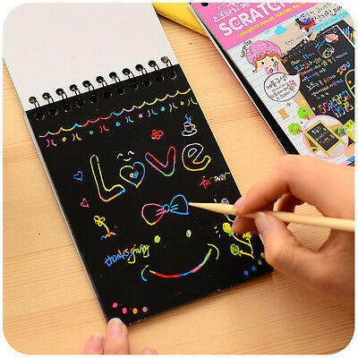 Creative Gift Stationery Scratch Sketch Paper Drawing Educational Scraping Paint