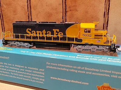 Pair of Broadway Limited Imports Santa Fe SD40-2 DCC and sound locos
