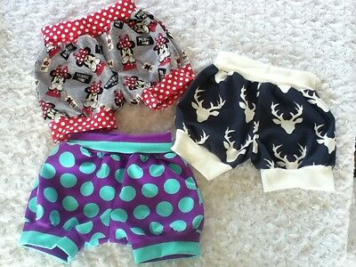 Baby Size 00 handmade cotton lycra knit nappy cover Minnie or the Dotty stripe