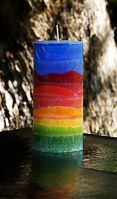 200hr COLOUR SPECTRUM Scented CEDAR WOOD & SAFFRON All Natural Meditation CANDLE