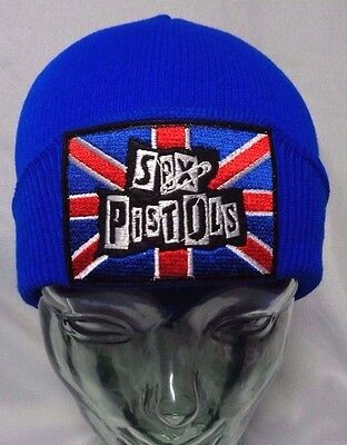 sex pistols beanie knit hat cap punk rock skate alt ramones the clash misfits