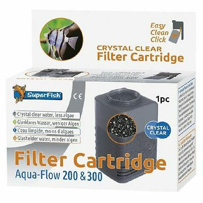 Superfish Aqua Flow 200 & 300 Crystal Clear Filter Cartridge Carbon & Zeolite