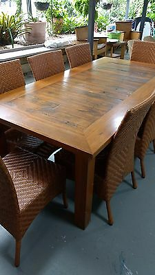 9 Piece Recycled/Rustic/Country Timber Dining Setting