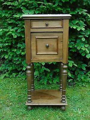 Victorian (French?) marble topped pot cupboard/bedside cabinet/side table