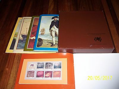 51 mint stamps. Australian Bicentennial Collection. 5 books cased set.