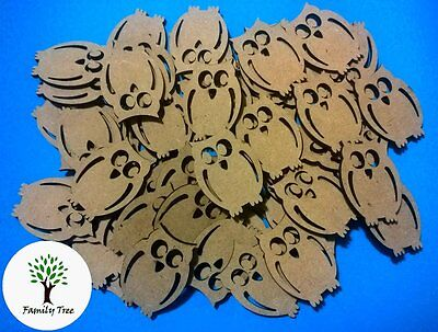 MDF WOODEN OWLS 30mm x 3mm - UNLIMITED QUANTITIES