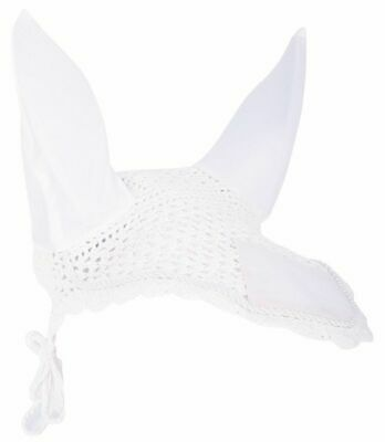 Harry's Horse Crochet Bonnet Ear Net - White Harry's Horse