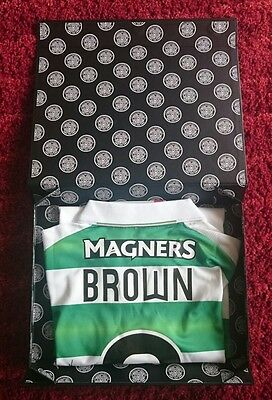 Scott Brown signed celtic shirt in presentation box / invincibles / treble COA