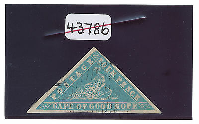 1861 CAPE OF GOOD HOPE - 4d 'WOODBLOCK' GENUINE with BRANDON certificate. SG 14.