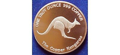 Copper kangaroo limited release one ounce copper coin - RARE