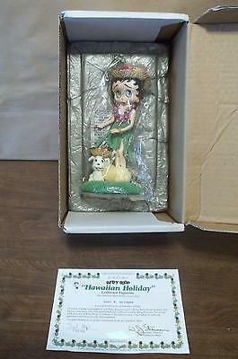 "Danbury Mint Betty Boop ""HAWAIIAN HOLIDAY"" Collector Figurine MIB"