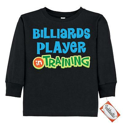 Inktastic Billiards Player In Training Toddler Long Sleeve T-Shirt Future Kids