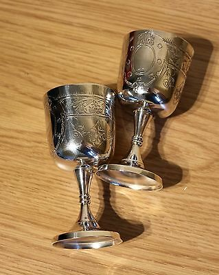 Vintage Retro Pair of Silver Plated EPNS Stamped Small Goblets ...