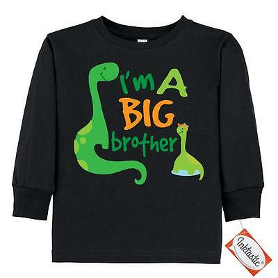 Inktastic I'm A Big Brother Dinosaur Toddler Long Sleeve T-Shirt Boys New Baby