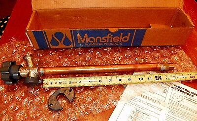 "Mansfield Copper Anti-Siphon Frost Proof 578-12"" X 1/2"" Sillcock * New"