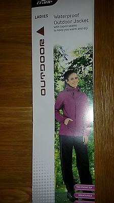New Ladies Waterproof Lightweight Outdoor Jacket  with reflectors..Size small