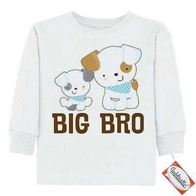 Inktastic Big Bro Puppy Dog Brother Toddler Long Sleeve T-Shirt Gift New Boys