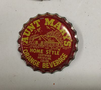 UNUSED cork AUNT MARY'S Bottle cap crown SODA can ACL cone sign top ROCHESTER NY
