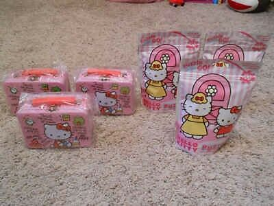 3 Sets Of New Hello Kitty Mini Tin Lunch Pails And Puzzles